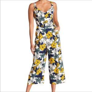 J.O.A. Los Angeles Floral Crop Jumpsuit